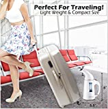 Steamer For Clothes. Handheld Clothes Steamer with Fast Heat-Up and Automatic Shut Off-100% Safe. Powerful & Compact Portable Garment Steamer for Travel/Home with Bonus FREE - Travel Pouch by SWIFTIX