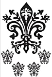 Lot 26 Studio Burnish Fleur de Lis Vinyl Wall Decal, 16 x 24-Inches