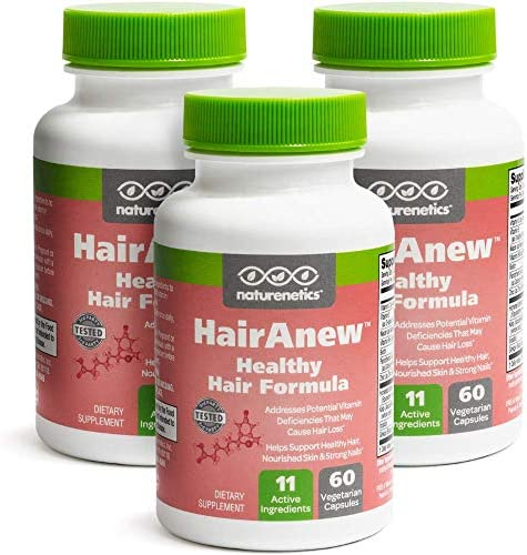 HairAnew Unique Hair Growth Vitamins with Biotin – Tested – for Hair, Skin and Nails – Women and Men – Addresses Vitamin Deficiencies That Could be The Cause of Hair Loss or Lack of Regrowth 3