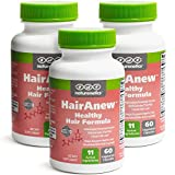 HairAnew (Unique Hair Growth Vitamins with Biotin) - Tested - for Hair, Skin & Nails - Women & Men - Addresses Vitamin Deficiencies That Could Be The Cause of Hair Loss/Lack of Regrowth (3)