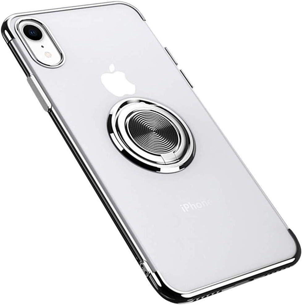 Fulidy Coque iPhone X Slim Fit TPU avec Support de Bague Silicone Gel Anti Mince Placage Bumper Housse Lustre M/étal 360/° Bague Support T/él/éphone Voiture Etui Coque iPhone XS