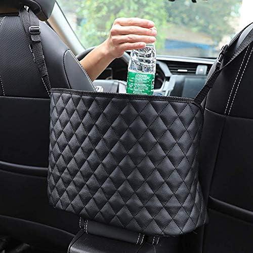 Cargo Tissue Purse Holder Barrier of Backseat Pet Kids 3-Layer Car Net Pocket Handbag Holder Seat Back Car Organizer Net Bag Driver Storage Netting Pouch Black, 3-Layer