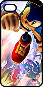 Sonic The Hedgehog Black Rubber Case for Apple iPhone 4 or iPhone 4s