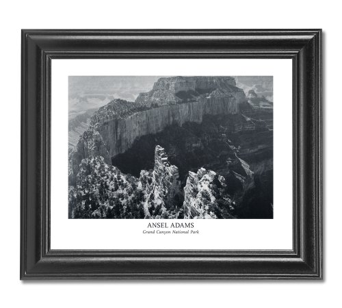 Ansel Adams Grand Canyon B/W Photo Wall Picture Framed Art Print