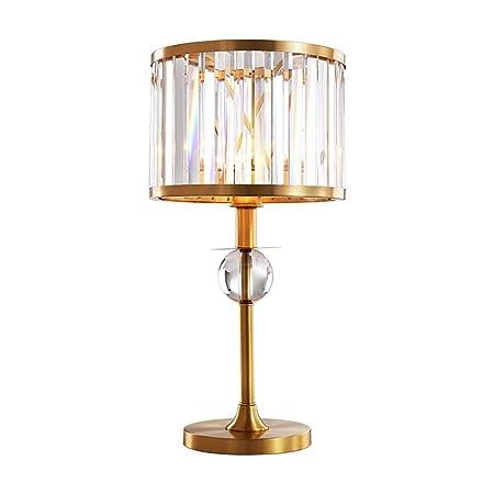 WYZ Lámpara de Mesa de Cristal Poste Moderno Dormitorio Lámpara de ...