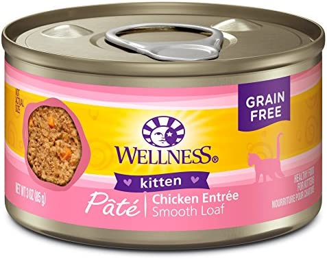Makanan Kucing Wellness Natural Pet Food Grain-Free Wet Canned Food Untuk Anak Kucing