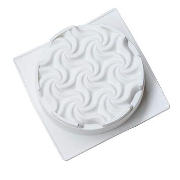 JiaYuanShop Espiral en Forma de Flor en Forma de Molde para Pastel de cumpleaños, ...