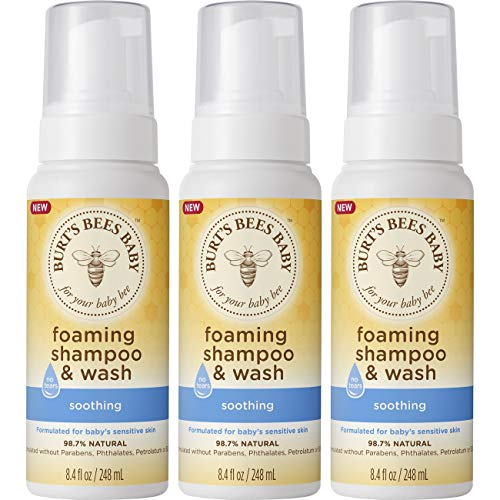 Burt's Bees Baby Foaming Shampoo & Wash, 3Count