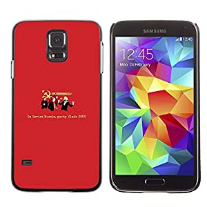 Paccase / SLIM PC / Aliminium Casa Carcasa Funda Case Cover para - Communism Party Red Symbol Funny Quote - Samsung Galaxy S5 SM-G900