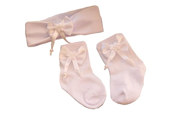 Baby Set Haarband Socken SET 50 56 62 68 74 80 86 Stirnband Rosa Strümpfe NEU