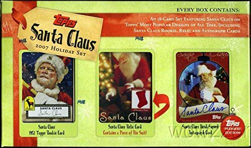 (Topps Santa Claus Factory Sealed Box Gift Set ! Includes Topps Santa Claus AUTOGRAPH, RELIC Card and 1952 Topps Design ROOKIE Card !! Perfect Stocking Stuffer! Must have for all Santa Fans! )