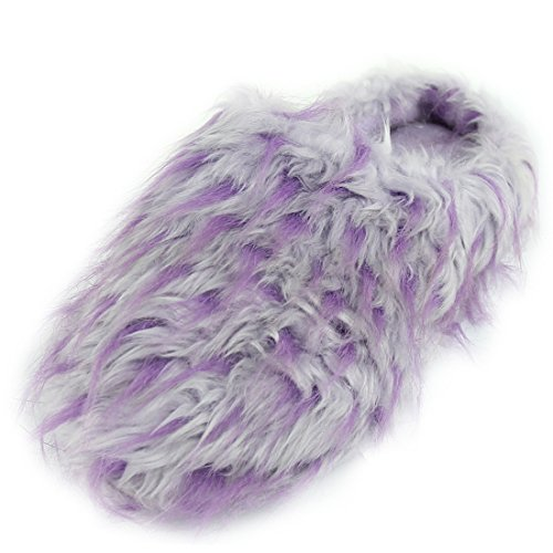 Fashion Boots Soft Slippers Warm Purple Light Plush Fleece Winter Indoor Women's Forfoot House 04Hpwq1Fn
