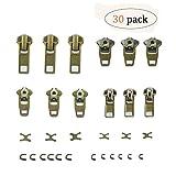 Arts & Crafts : 30pcs Zipper Repair Kit Zipper Replacement Pack Zipper Fix Instant by BesTim Digital(30Pack)
