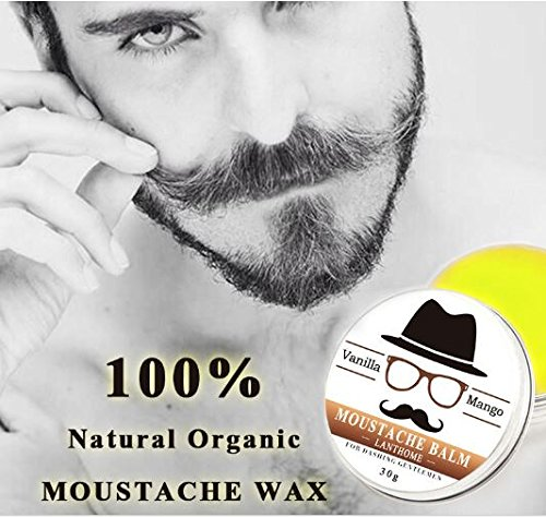 Natural Oil Styling Moustache Wax Balm Beeswax Moisturizing Smoothing Beard by Rubyshop