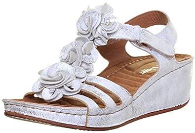Ladies silver wedge sandals uk