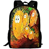 OIlXKV Cute Cartoon Little Puffer Print Custom Casual School Bag Backpack Multipurpose Travel Daypack For Adult