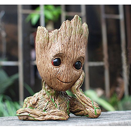 B-Best Guardians of The Galaxy Groot Pen Pot Tree Man Pens Container Or Flowerpot with Drainage Hole Perfect for a Tiny Succulents Plants and Best Gift Idea 6'' by B-BEST (Image #5)'