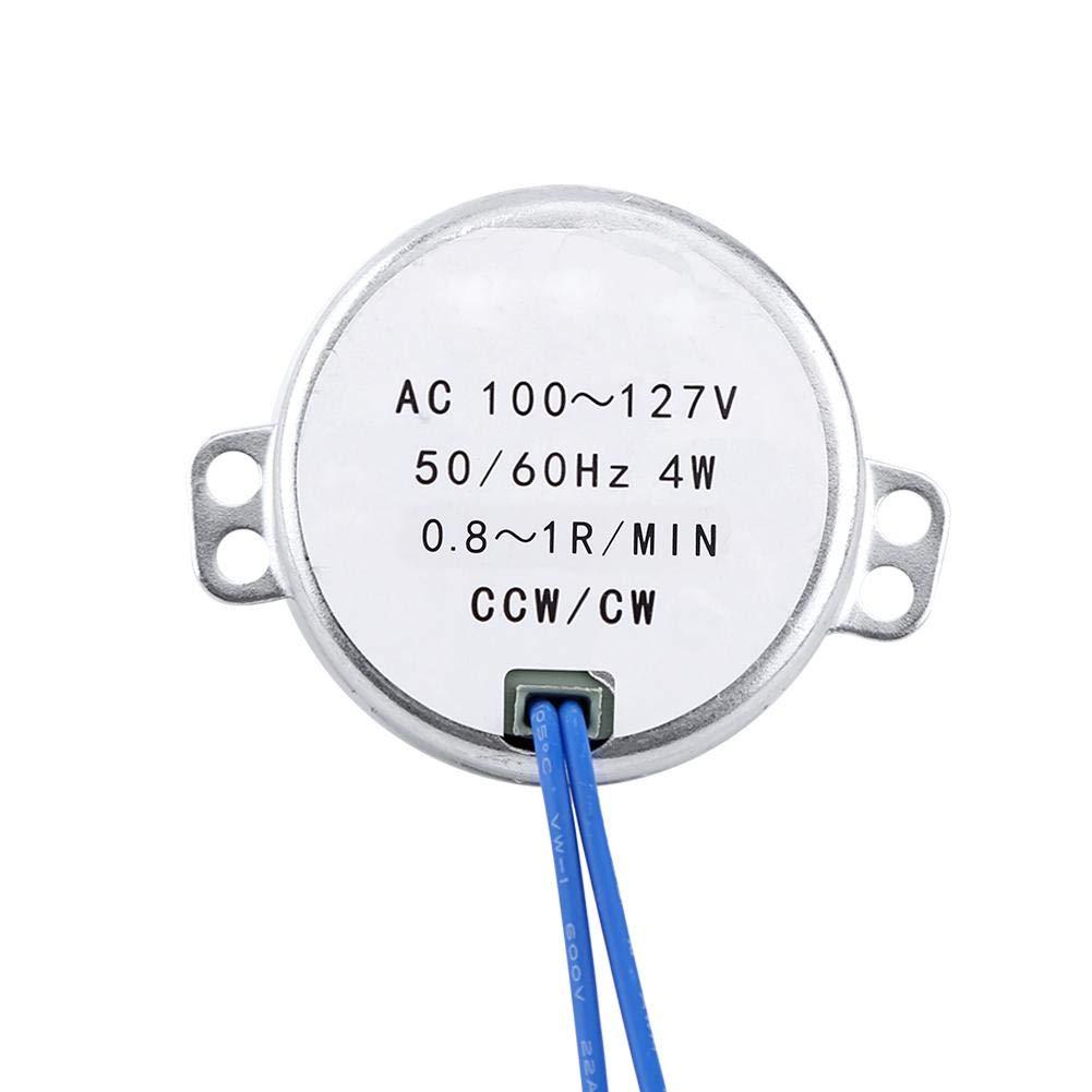 1 Piece 4 Sizes AC 100V-127V 4W 50/60Hz Synchronous Motor(0.8-1RPM)