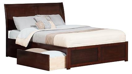 Amazon.com: Atlantic Furniture Portland Flat Panel Foot Board with 2 ...