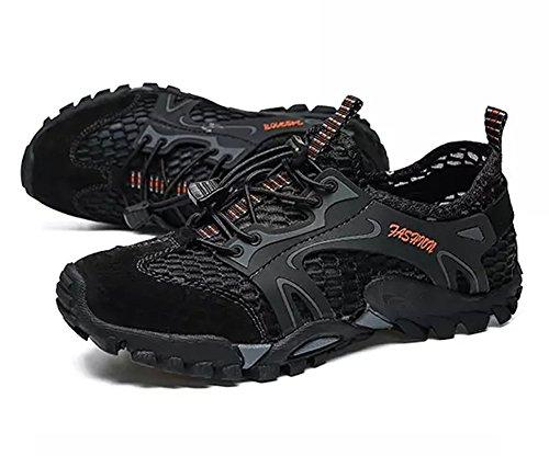 Al Ocasionales Senderismo Libre Negro Para Sandalias La Malla Transpirable Aire Correr Hombre Atléticas Zapatillas De Moda Tn781Aqq