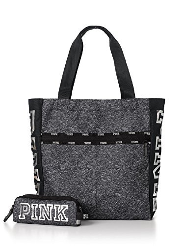 Victoria's Secret PINK 2017 Limited Edition Black Friday Tote + Tech Pouch - Grey