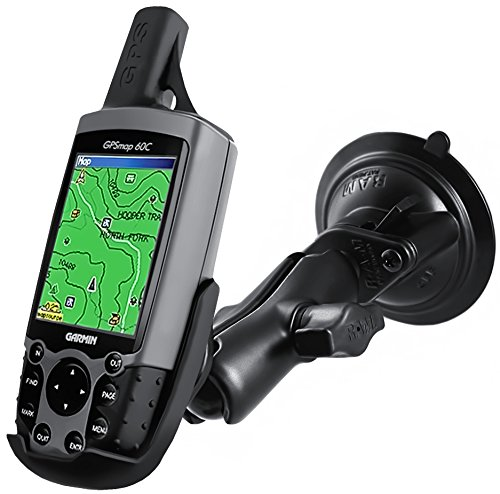 Ram Mount RAM-B-166-GA12U Suction Cup Mount for Garmin Astro 220, GPS 60, GPSMAP 60, 60C, 60CS, 60CX, 60CSx