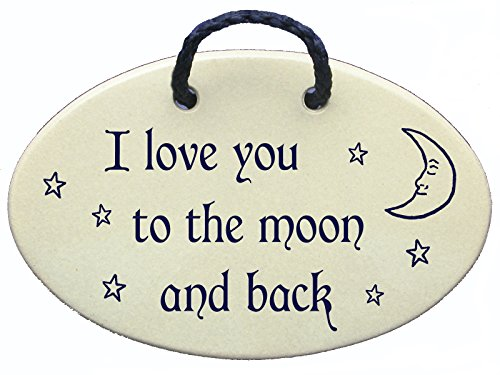 Mountain Meadows Pottery I Love You to The Moon and Back. Handmade in The USA for Over 30 Years.