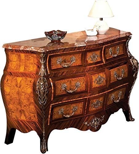 (David Michael Chest of Drawers Louis XV Rococo Bombe Walnut Inlays Satin)