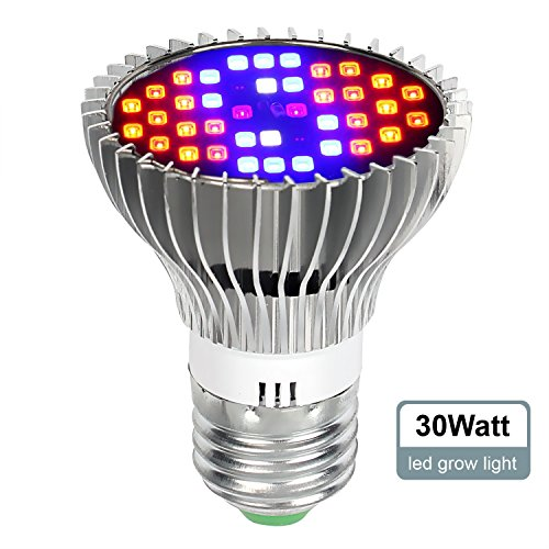 iTimo Full Spectrum Led Grow Light Bulb Plant growing Lamp For Indoor Plants Hydroponics Aquatic And Greenhouse Planting(30W)