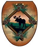 Toilet Tattoos TT-1888-O Moose At Sunset Decorative Applique for Toilet Lid, Elongated