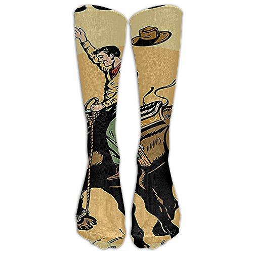 (Rodeo Cowboy Riding Horse Knee High Graduated Compression Socks For Women And Men - Best Medical, Nursing, Travel & Flight Socks - Running & Fitness)