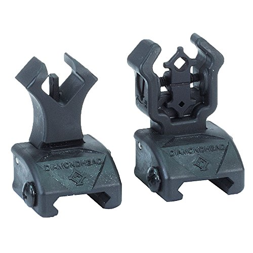 Diamondhead USA Polymer Front and Rear Flip Up Sights with (Spring Front Sight)