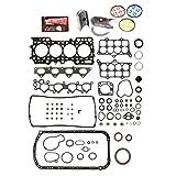 Evergreen Engine Rering Kit FSBRR4014EVE 92-96 Honda Prelude DOHC H23A1 Full Gasket Set, Standard Size Main Rod Bearings, 0.50mm / 0.020'' Oversize Piston Rings