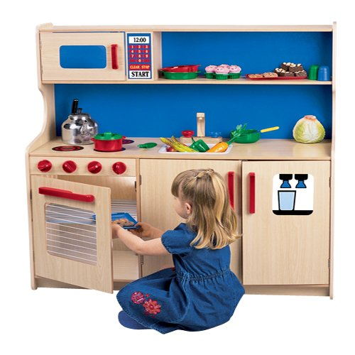 Constructive Playthings KDK-53 Wooden Efficiency Kitchenette For Kids