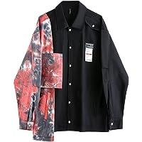 DCRZTY Dames Shirts-Lente Dames Blouse Shirt Patchwork Tie Dye Print Lange Mouwen Streetwear Koreaanse Mode Kleding…