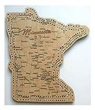 Minnesota State Shape Road Map Cribbage Board