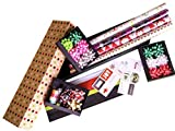 Premium Holiday Gift Wrapping Paper 4-Roll Assortment Variety Pack for Christmas, Birthday, All Occasions, Wedding - includes Paper Rolls Bows Ribbons Labels Tissue Paper USA Made by Royal Needham