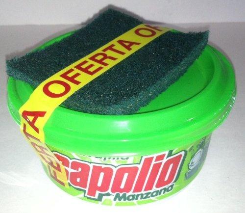 Sapolio Lavavajilla Manzana/Apple + Esponja/Sapolio Dishwasher Paste Green + Sponge 12.6 Oz.