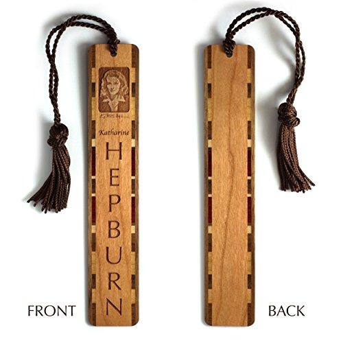 katharine-hepburn-engraved-wooden-bookmark-with-brown-rope-tassel