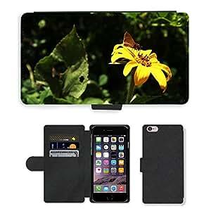 """PU LEATHER case coque housse smartphone Flip bag Cover protection // M00129841 Mariposa flor de la margarita verde // Apple iPhone 6 PLUS 5.5"""""""