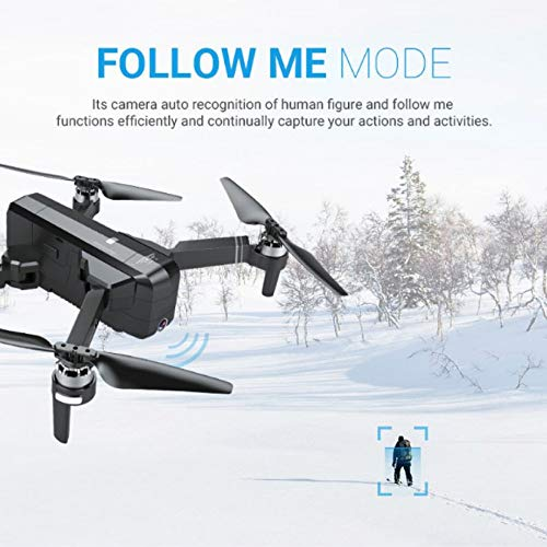 MOZATE New SJRC F11 GPS 5G WiFi FPV 1080P HD Cam Foldable Brushless RC Drone Quadcopter (Black) by MOZATE (Image #6)