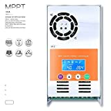 PowMr 30A MPPT Solar Charge Controller 48V 36V 24V 12V Auto Max 190VDC Input Solar Charge for Vented Sealed Gel NiCd Lithium Battery Backlight LCD
