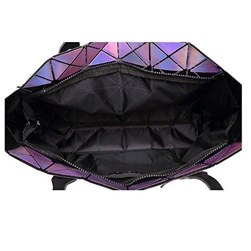 géométrique xiaohu à à Main Sac Hologramme Purple Sac bandoulière Sac réfléchissant géométrique Sac araz6