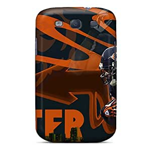 Shock-Absorbing Cell-phone Hard Covers For Samsung Galaxy S3 With Support Your Personal Customized Stylish Chicago Bears Series AlissaDubois