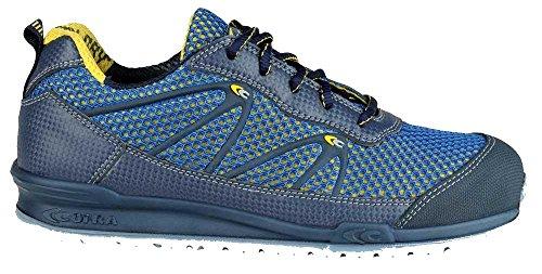 Moderner Sicherheitshalbschuh von Cofra IMPULSE S1P SRC im Sneakerlook aus der beliebten Jogging Reihe Blau