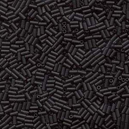 - Miyuki #1 Glass Bugle Beads 3x1.5mm Matte Black -Aprx 19 Grams