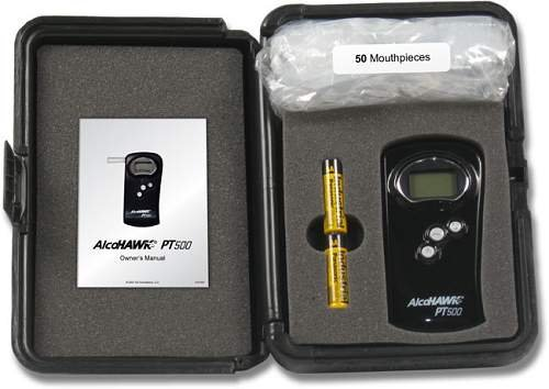 AlcoHAWK PT500P Professional Breathalyzer Kit With Printer