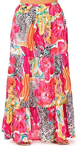 t Femmes en Rose long Pistachio Tropical robe Style hawa jupe xOqwXwPS