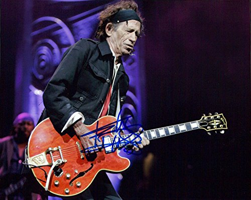 Keith Richards (The Rolling Stones) signed 8x10 photo from Authentic Autographs