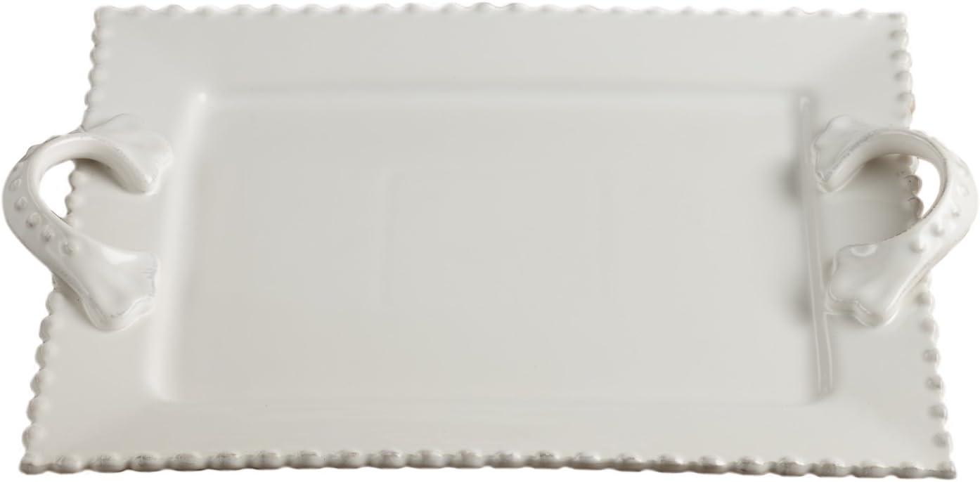 American Atelier Ruffle Serving Platter White
